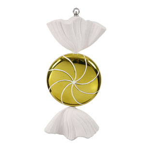 Lime Swirl Candy Ornament 18.5-inch