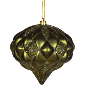 Dark Olive Diamond Ornament 5.7-inch