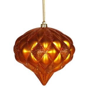 Burnish Orange Diamond Ornament 5.7-inch