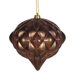 Chocolate Diamond Ornament 5.7-inch