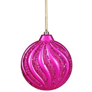 Cerise Flat Ball Ornament 6-inch