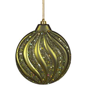 Dark Olive Flat Ball Ornament 6-inch