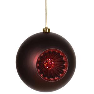 Burgundy Old Fashion Ball Ornament 8-inch