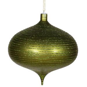 Dark Olive Matte-Glitter Onion Ornament 8-inch
