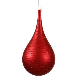 Red Matte-Glitter Onion Ornament 4-inch