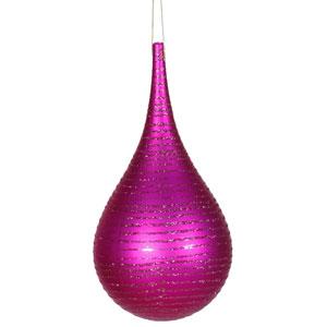 Cerise Matte-Glitter Onion Ornament 4-inch