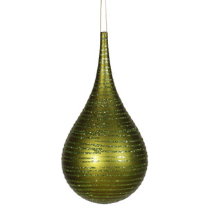 Dark Olive Matte-Glitter Onion Ornament 4-inch