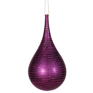 Plum Matte-Glitter Onion Ornament 4-inch