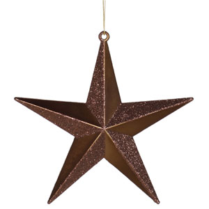 Chocolate Star Ornament 6-inch