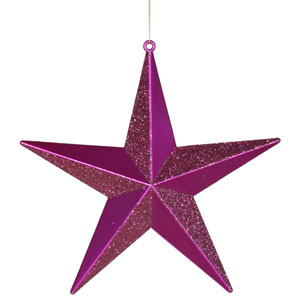 Cerise Star Ornament 8-inch