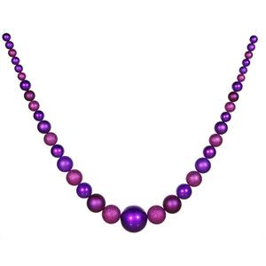 Purple Ball Garland Ornament 134-inch