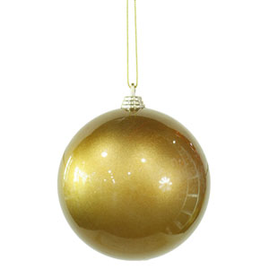 Antique Gold 4-inch Candy Finish Ball Ornament 100mm 4/Box
