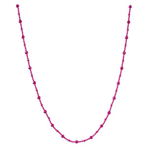 Cerise Shiny Faceted Ball Garland Ornament 9-foot