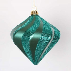 Emerald 8-Inch Candy Glitter Swirl Diamond Ornament