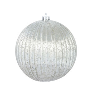 Pewter Mercury Pumpkin Ball Ornament