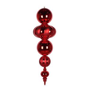 Red Shiny Matte Finial