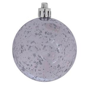 Silver Shiny Mercury Ball Ornament, Set of Six