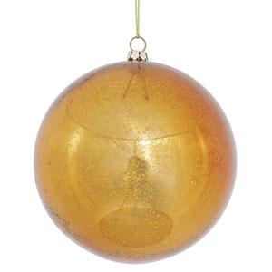 Copper Shiny Mercury Ball Ornament, Set of Four
