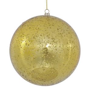 Gold Shiny Mercury Ball Ornament, Set of Four