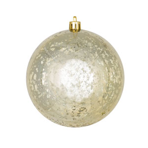 Champagne Shiny Mercury Ball Ornament, Set of Four