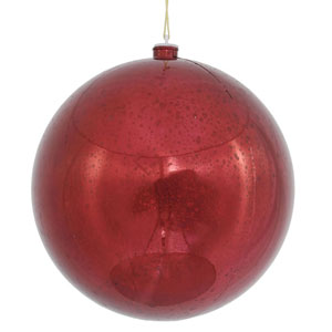 Burgundy Shiny Mercury Ball Ornament
