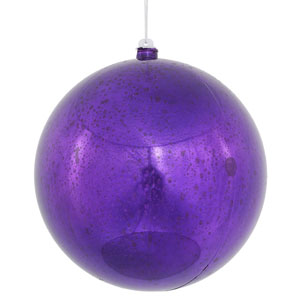 Purple Shiny Mercury Ball Ornament