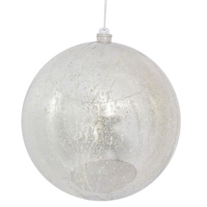 Silver Shiny Mercury Ball Ornament