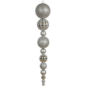 Silver Assorted Shape Calabash Ornament 55-inch