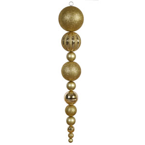 Gold Assorted Shape Calabash Ornament 55-inch