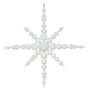White Irid Snowflake Ornament