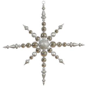 Silver Solid Color Snowflake Ornament 43-inch