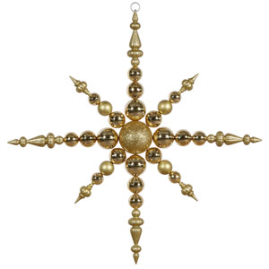 Gold Solid Color Snowflake Ornament 43-inch