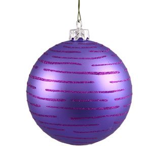 Purple Ball Ornament 120mm