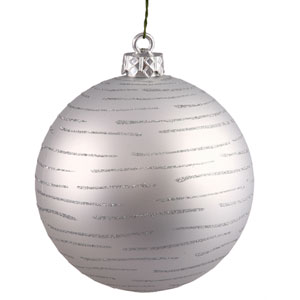 Silver Ball Ornament 120mm