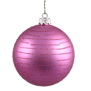Orchid Pink Ball Ornament 120mm