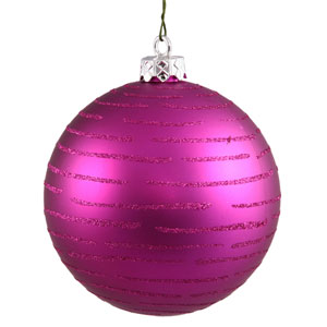 Magenta Ball Ornament 120mm