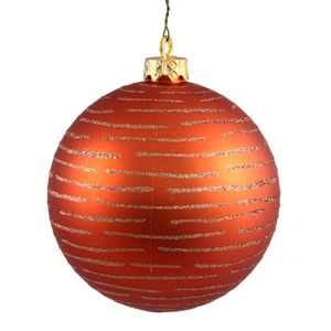 Burnish Orange Ball Ornament 120mm