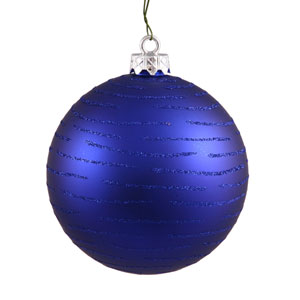 Cobalt Blue Ball Ornament 120mm
