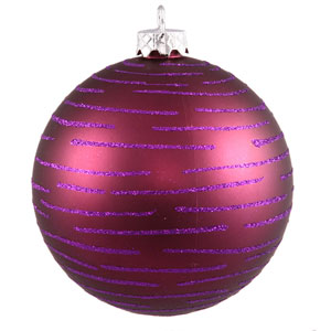Plum Ball Ornament 120mm