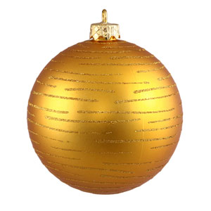 Antique Gold Ball Ornament 120mm