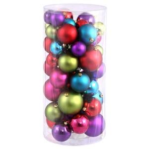 Multi Color Shiny and Matte Ball Ornaments, 50 per Box