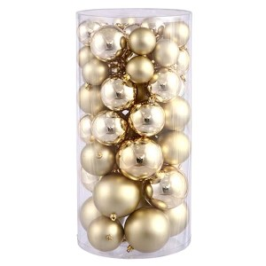 Gold Shiny and Matte Ball Ornaments, 50 per Box