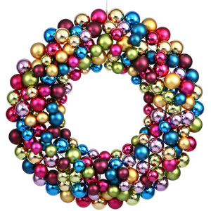 Multi-Color Ball Wreath Ornament 24