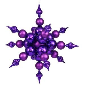 Purple 39-Inch Shiny Glitter Radical Snowflake Ornament