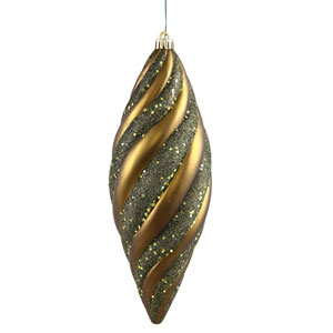 Dark Olive Spiral Drop Ornament 200mm