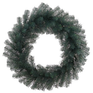 Blue Crystal 24-Inch Pine Wreath