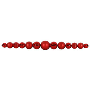 9 Ft. Red Ball Garland UV Resistant
