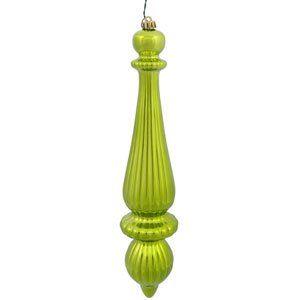 Lime Shiny Finial Drop, Set of Two