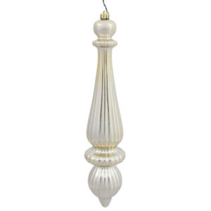 Champagne Shiny Finial Drop, Set of Two