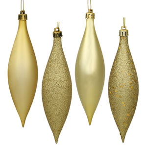 Gold 4 Finish Finial Ornament 140mm
